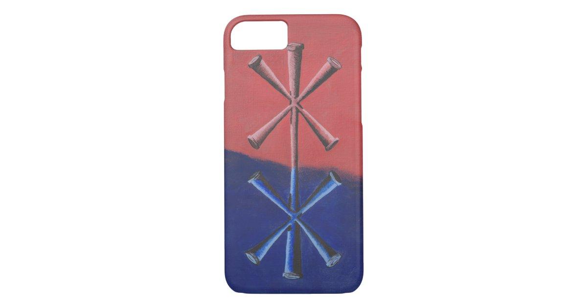 Norse Binding Rune - Pink and Blue Case-Mate iPhone Case | Zazzle com