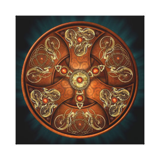 Norse Chieftain's Shield Stretched Canvas Prints