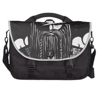 Norse God Odin and Wheel Symbol Laptop Computer Bag