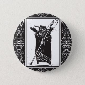 Norse God Odin Pinback Button