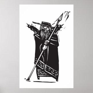Norse God Odin Poster