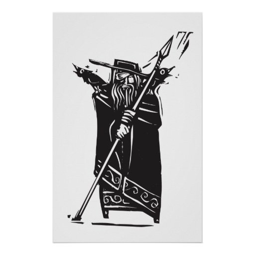 Norse God Odin Posters