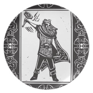 Norse God Thor Dinner Plate