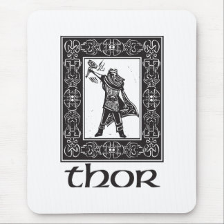 Norse God Thor Mouse Pad