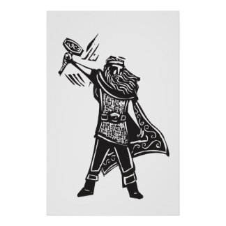 Norse God Thor Poster