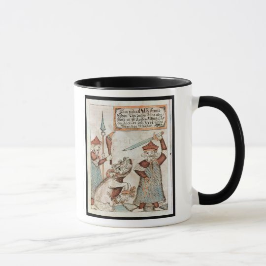Norse god Tyr losing his hand to the bound wolf Mug