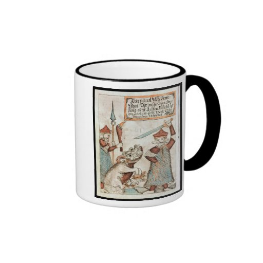 Norse god Tyr losing his hand to the bound wolf Coffee Mug