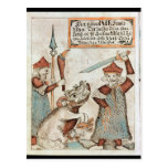 Norse god Tyr losing his hand to the bound wolf Postcards