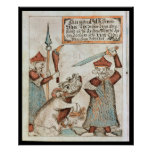Norse god Tyr losing his hand to the bound wolf Print
