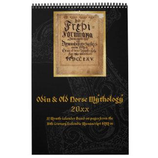 Norse Mythology: Icelandic Manuscript 1800s Calendar