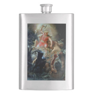 Norse Mythology - Thor Battles the Giants Flask