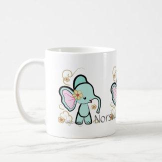 Norsu -- Cute Finnish Elephant Classic White Coffee Mug