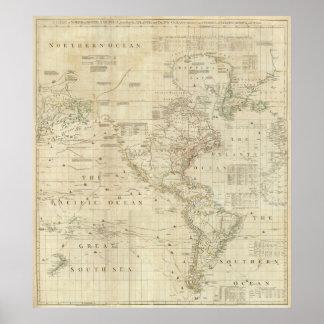 Norte compuesto y Suramérica Poster