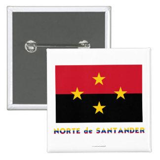 Norte de Santander Flag with Name Pins
