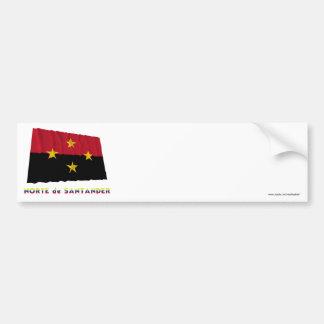 Norte de Santander Waving Flag with Name Car Bumper Sticker