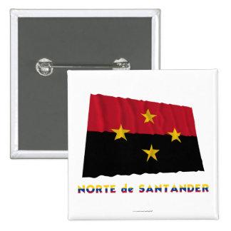 Norte de Santander Waving Flag with Name Pinback Buttons