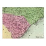 Norte y Carolina del Sur 2 Postal