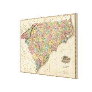 Norte y Carolina del Sur 3 Lienzo Envuelto Para Galerias