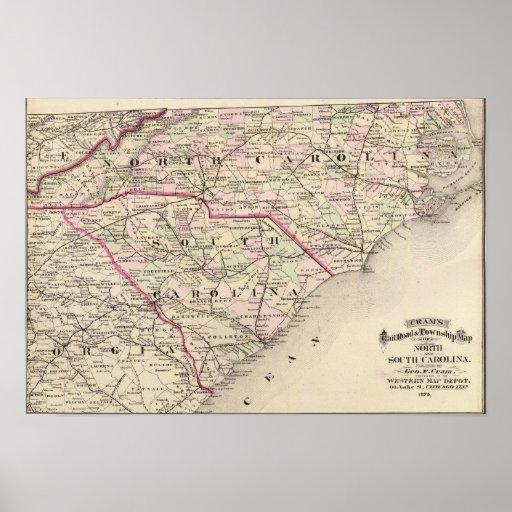 Norte y Carolina del Sur 4 Poster