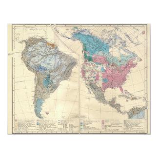 """Norte y mapa étnico de Suramérica a partir de 1880 Invitación 4.25"""" X 5.5"""""""