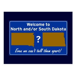 Norte y/o Dakota del Sur Postal