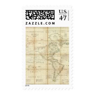 Norte y Suramérica Timbre Postal