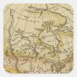Norteamérica 10 pegatina cuadrada
