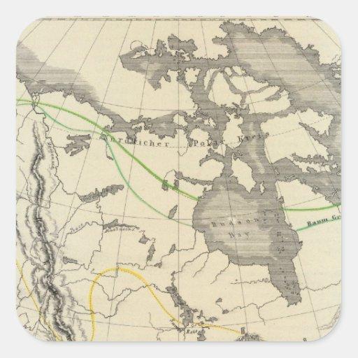 Norteamérica 11 pegatina cuadrada