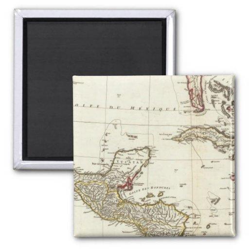 Norteamérica 1763 límites imán de frigorifico