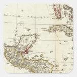 Norteamérica 1763 límites pegatinas cuadradases