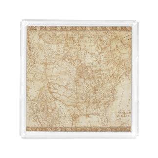 Norteamérica 1804 bandeja cuadrada