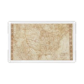 Norteamérica 1804 bandeja rectangular