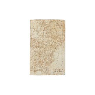 Norteamérica 1804 funda para libreta y libreta pequeña moleskine