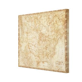 Norteamérica 1804 impresión en lona