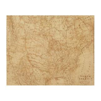 Norteamérica 1804 impresión en madera