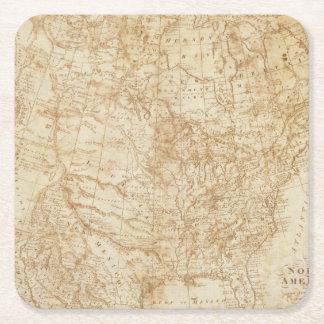 Norteamérica 1804 posavasos de cartón cuadrado