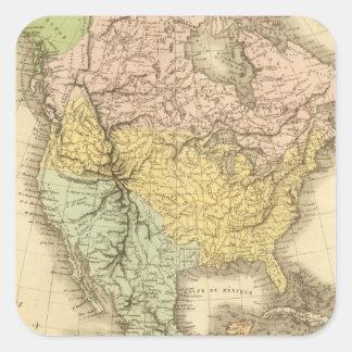 Norteamérica 20 calcomanías cuadradass