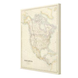 Norteamérica 20 impresión en lienzo
