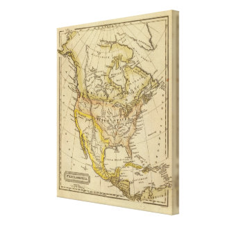 Norteamérica 28 impresión en lona estirada