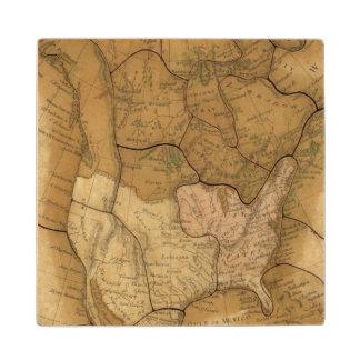 Norteamérica 29 2 posavasos de madera
