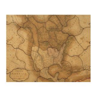 Norteamérica 29 impresión en madera