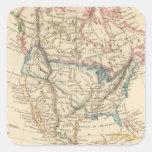 Norteamérica 31 pegatina cuadrada