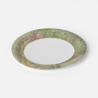 Norteamérica 32 plato de papel de 7 pulgadas