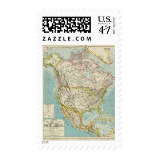 Norteamérica 34 sello