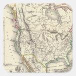 Norteamérica 41 calcomanias cuadradas