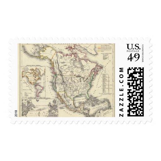 Norteamérica 41 timbres postales