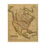 Norteamérica 42 impresión en madera