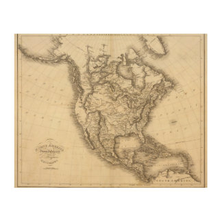 Norteamérica 47 cuadro de madera