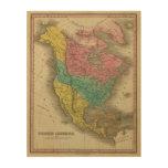 Norteamérica 5 cuadro de madera