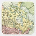 Norteamérica 7 pegatina cuadradas